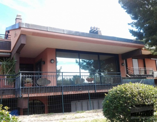 DIK63 Panoramic view villa with a swimming pool in Andora